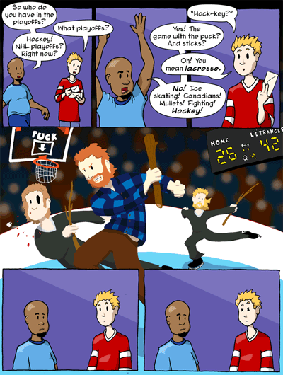Hockey comic.