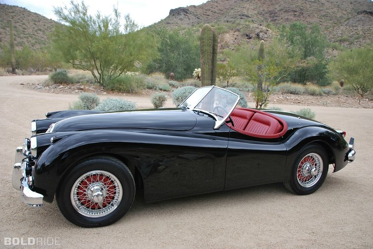 A 1954 Jaguar Roadster.